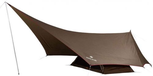Snow Peak SDI-101 Solo Tent & Tarp, Hexa-Ease 1, Brown, for 1 Person